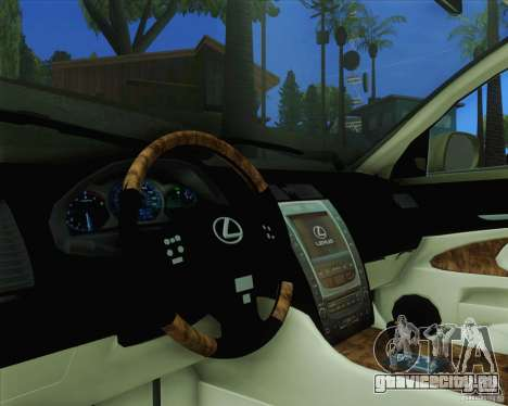 Lexus GS450h 2011 для GTA San Andreas вид справа