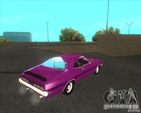 Mercury Cyclone Spoiler 1970 для GTA San Andreas вид справа