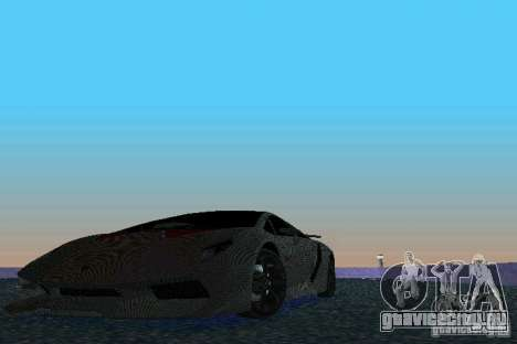 Lamborghini Sesto Elemento для GTA Vice City вид сзади
