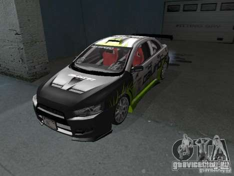Mitsubishi Evolution X Stock-Tunable для GTA San Andreas вид слева