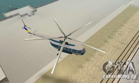 МИ-17 гражданский (Украинский) для GTA San Andreas вид справа
