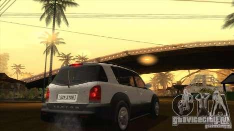 SsangYong Rexton 2005 для GTA San Andreas вид сзади