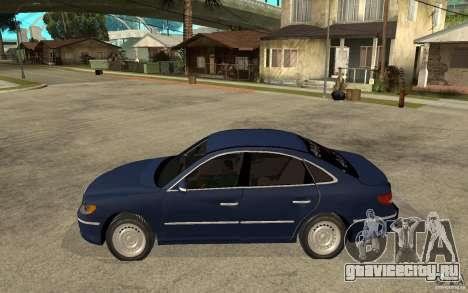 Hyundai Azera 2009 arb drift для GTA San Andreas вид слева