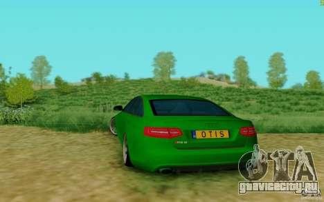 Audi RS6 OTIS для GTA San Andreas вид сзади слева