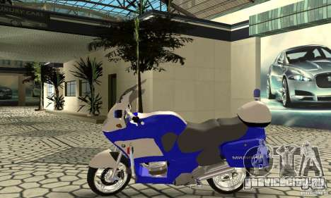 Мотоцикл российской милиции для GTA San Andreas вид сзади слева