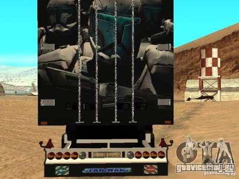 Прицеп Star Wars для GTA San Andreas вид сзади слева