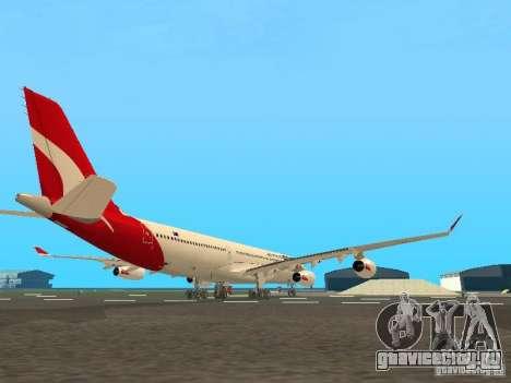 Airbus A340-300 Qantas Airlines для GTA San Andreas вид сзади