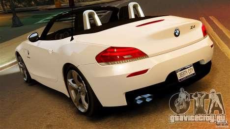 BMW Z4 sDrive 28is 2012 v2.0 для GTA 4 вид слева