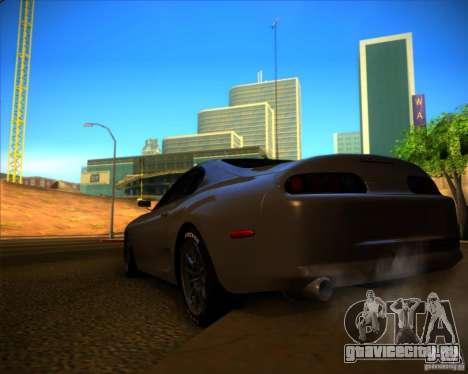 Toyota Supra SHE для GTA San Andreas вид сзади слева