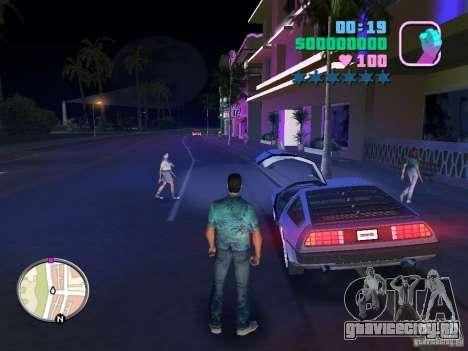 Delorean DMC-12 для GTA Vice City вид сзади слева