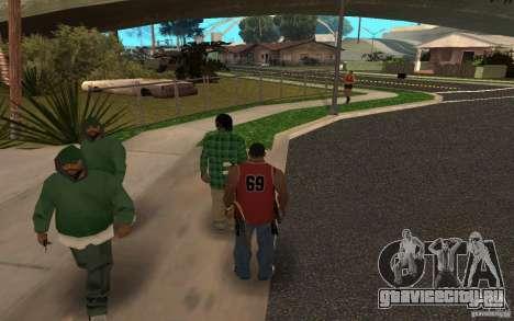 Skins Grove Street для GTA San Andreas второй скриншот