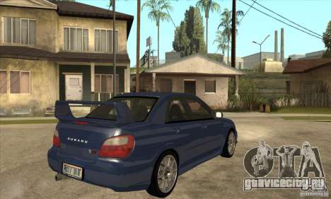 Subaru Impreza WRX STi - Stock для GTA San Andreas вид справа
