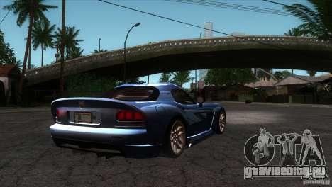 Dodge Viper SRT10 Stock для GTA San Andreas вид справа