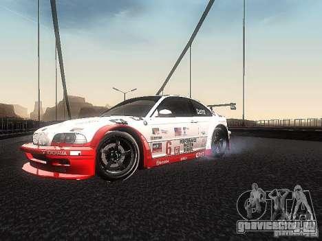 BMW M3 GTR1 для GTA San Andreas вид слева