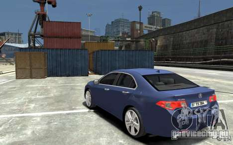 Acura TSX 2011 для GTA 4 вид сзади слева