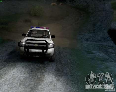Chevrolet Silverado Police для GTA San Andreas вид слева