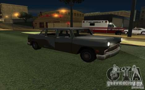 Civilian Cabbie для GTA San Andreas вид сзади