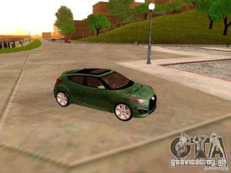 Hyundai Veloster Turbo v1.0 для GTA San Andreas вид изнутри