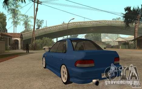 Subaru Impreza GC8 JDM SPEC для GTA San Andreas вид сзади слева