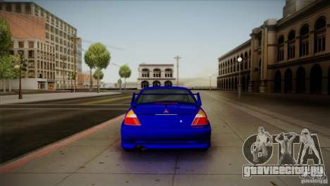 Mitsubishi Lancer Evolution lX для GTA San Andreas вид справа