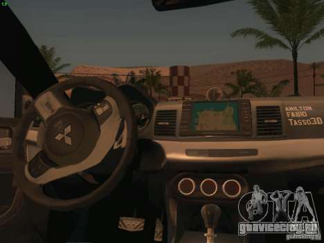 Mitsubishi  Lancer Evo X BMS Edition для GTA San Andreas вид снизу