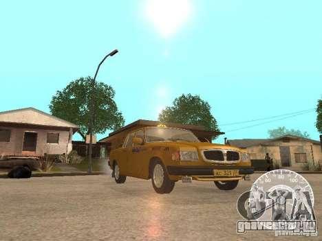 ГАЗ 3110 Волга такси для GTA San Andreas вид сверху