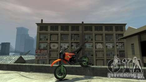 Stunt Supermotard Sanchez для GTA 4 вид сбоку