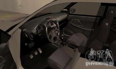 Subaru Impreza WRX Wagon для GTA San Andreas вид сзади
