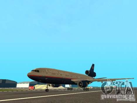 McDonell Douglas DC10 United Airlines для GTA San Andreas