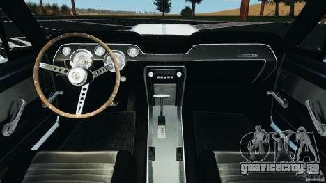 Shelby GT 500 Eleanor v2.0 для GTA 4 вид сзади