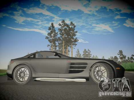 Mercedes-Benz SLR 722 Custom Edition для GTA San Andreas вид сзади