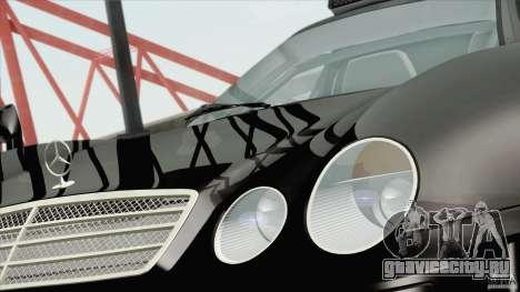 Mercedes-Benz CLK GTR Race Road Version Stock для GTA San Andreas вид сзади слева