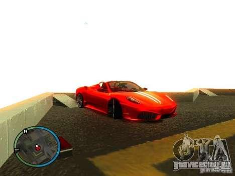 Ferrari F430 Scuderia M16 2008 для GTA San Andreas салон