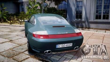 Porsche 911 (996) Carrera 4S для GTA 4 вид сзади слева