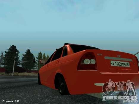 ВАЗ 2170 102-RUS для GTA San Andreas вид сзади слева