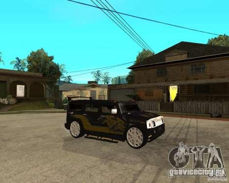 H2 HUMMER DUB LOWRIDE для GTA San Andreas вид справа