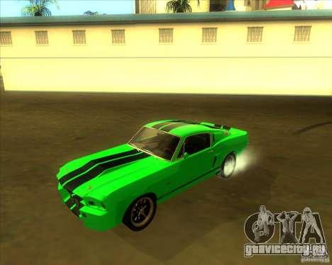 Shelby GT500 Eleanora clone для GTA San Andreas вид сбоку