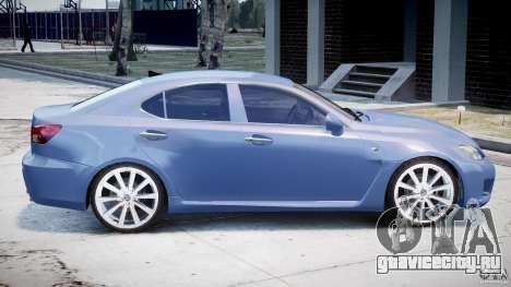Lexus IS F для GTA 4 вид сверху