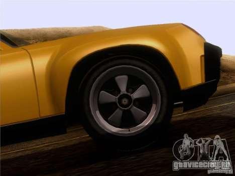 Porsche 914-6 для GTA San Andreas вид изнутри