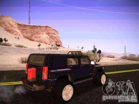 Hummer H3R для GTA San Andreas вид справа