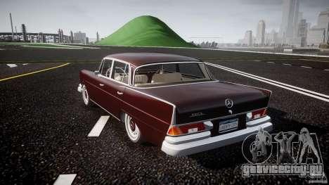 Mercedes-Benz W111 v1.0 для GTA 4 вид сзади слева