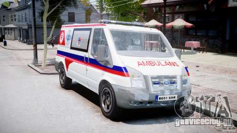 Ford Transit Polish Ambulance [ELS] для GTA 4 вид справа