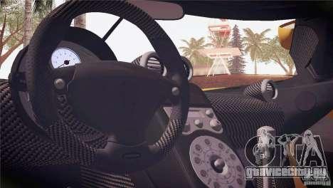 Koenigsegg CCX 2006 v2.0.0 для GTA San Andreas салон
