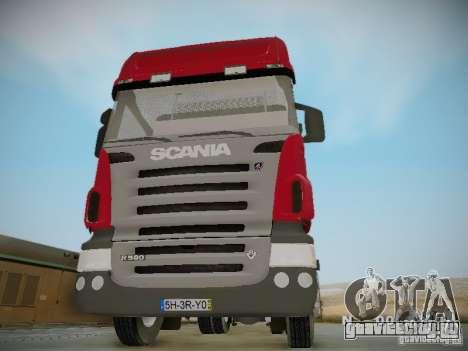 Scania R580 Topline для GTA San Andreas вид изнутри