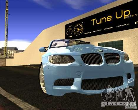 BMW M3 Convertible 2008 для GTA San Andreas вид изнутри