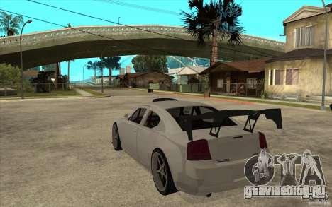 Dodge Charger 2009 для GTA San Andreas вид сзади слева
