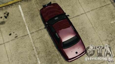 Ford Crown Victoria Police Unit [ELS] для GTA 4 вид справа