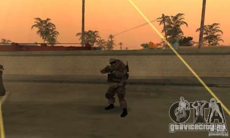 Солдат из CoD MW для GTA San Andreas второй скриншот