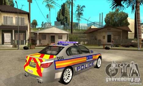 Metropolitan Police BMW 5 Series Saloon для GTA San Andreas вид справа