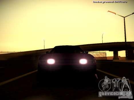 Nissan Silvia S13 Tandem Of DIE для GTA San Andreas вид изнутри